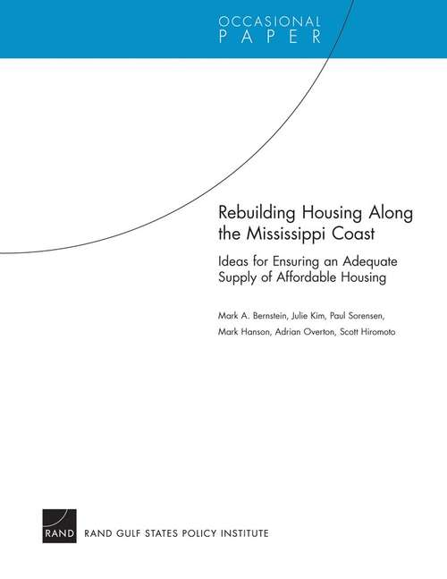 Rebuilding Housing Along the Mississippi Coast