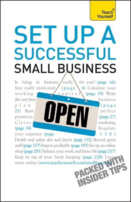 Set Up A Successful Small Business: Teach Yourself