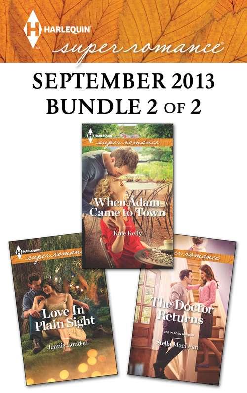 Harlequin Superromance September 2013 - Bundle 2 of 2