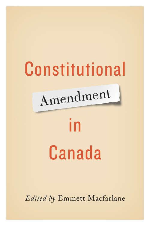 Constitutional Amendment in Canada