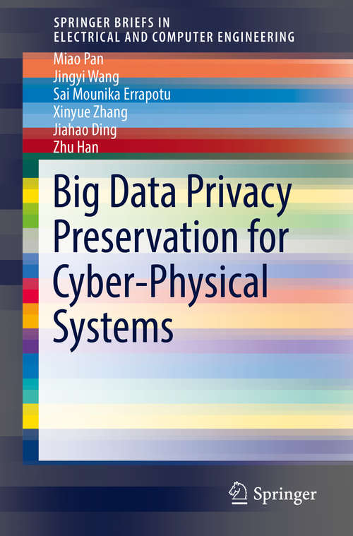 Big Data Privacy Preservation for Cyber-Physical Systems (SpringerBriefs in Electrical and Computer Engineering)