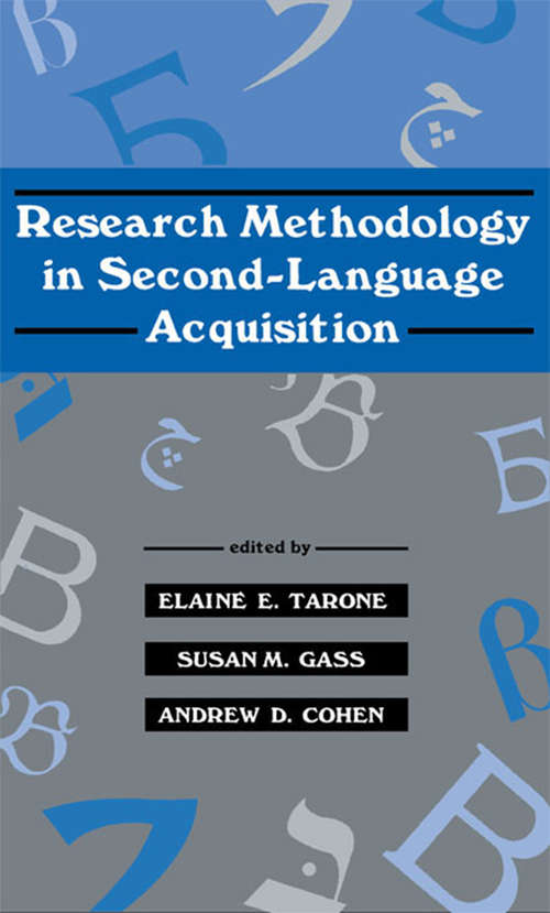 Research Methodology in Second-Language Acquisition (Second Language Acquisition Research Series)