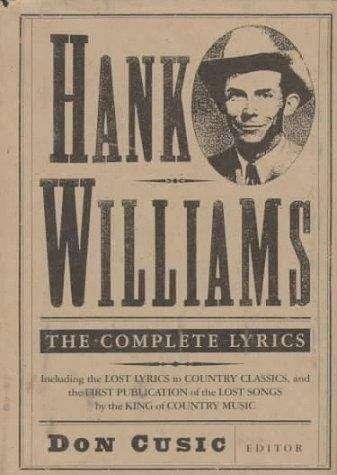 Hank Williams: The Complete Lyrics