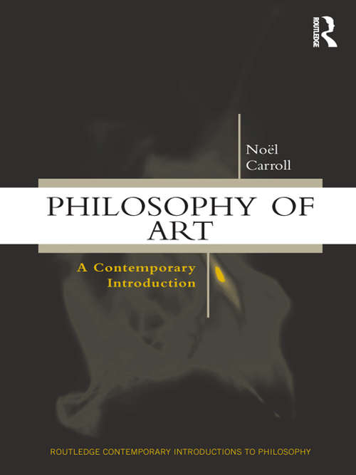 Philosophy of Art: A Contemporary Introduction