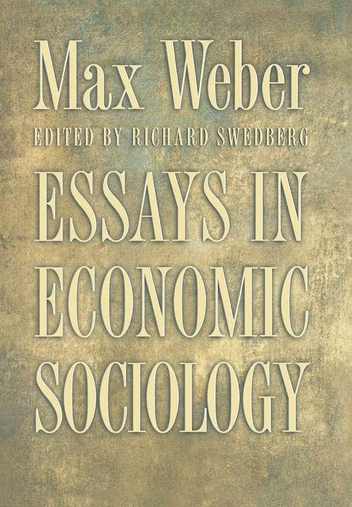 weber essays in economic sociology