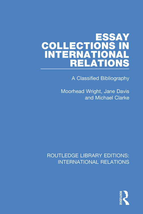 Essay Collections in International Relations