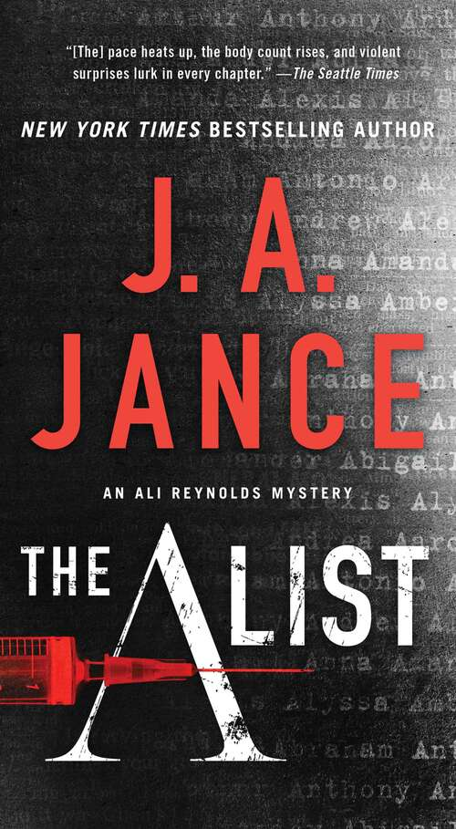 Collection sample book cover The A List (Ali Reynolds Series #14) by J.A. Jance