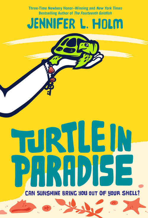 Collection sample book cover Turtle in Paradise, a hand holding a turtle