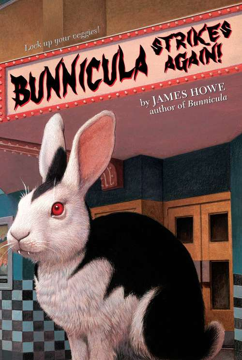 Bunnicula Strikes Again, a vampire bunny outside of a movie theatre