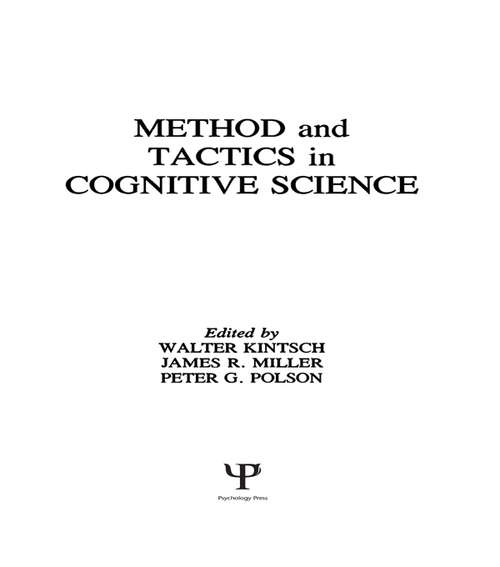 Methods and Tactics in Cognitive Science