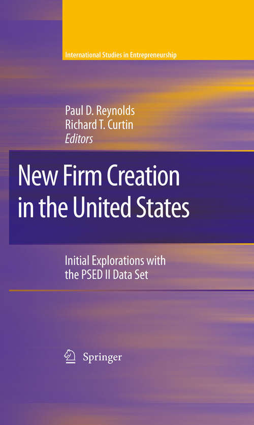 New Firm Creation in the United States