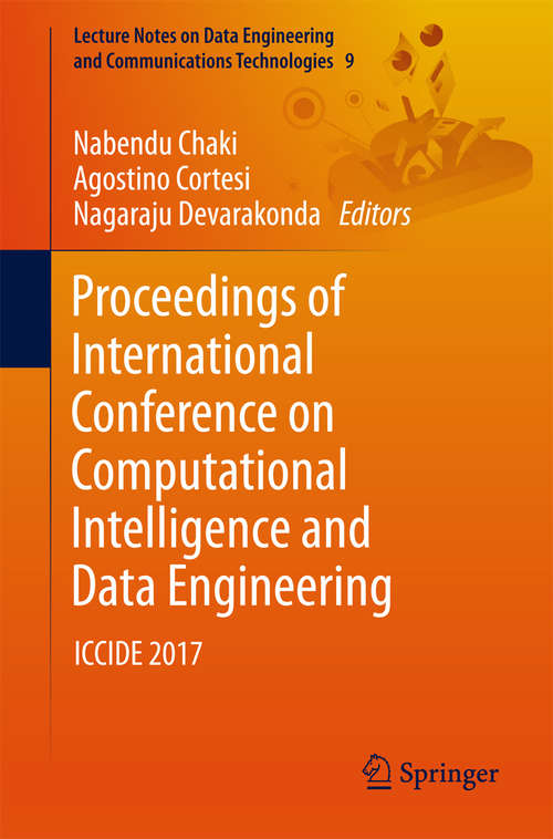 Proceedings of International Conference on Computational Intelligence and Data Engineering