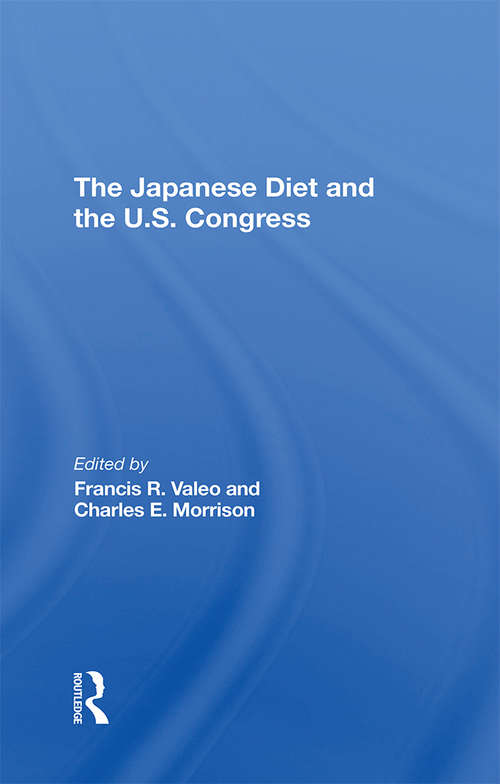 The Japanese Diet And The U.s. Congress