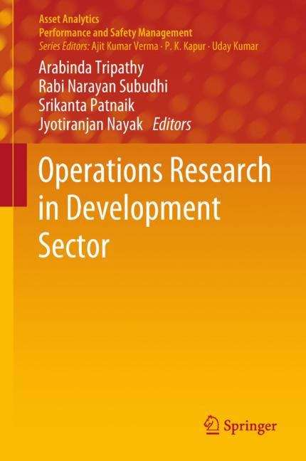 Operations  Research in Development Sector (Asset Analytics)