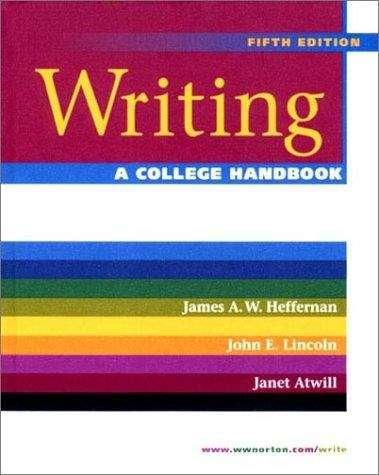 Writing: A College Handbook (5th edition)