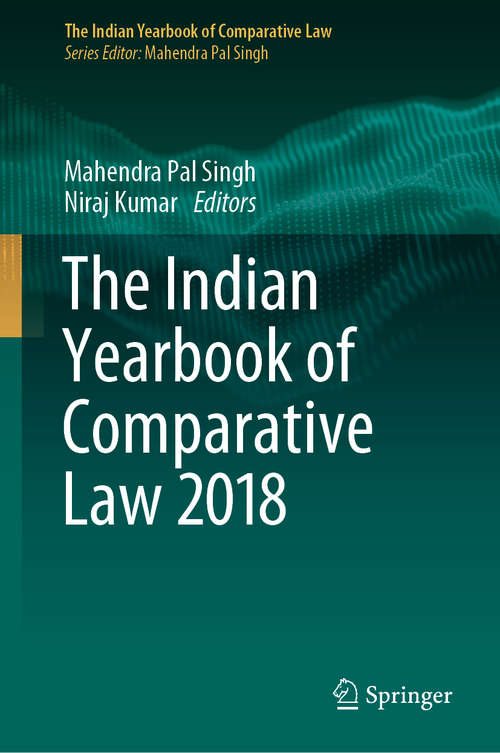 The Indian Yearbook of Comparative Law 2018 (The Indian Yearbook of Comparative Law)