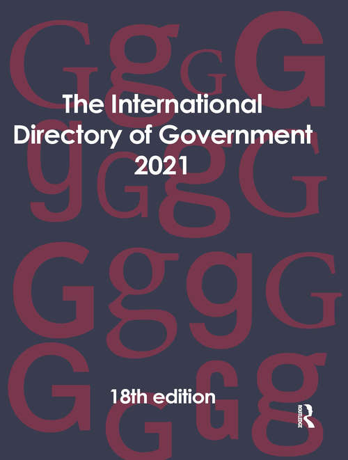 The International Directory of Government 2021