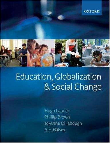 Education, Globilization and Social Change