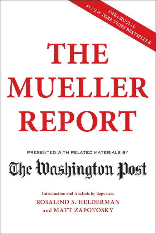 Collection sample book cover The Mueller Report presented by the Washington Post