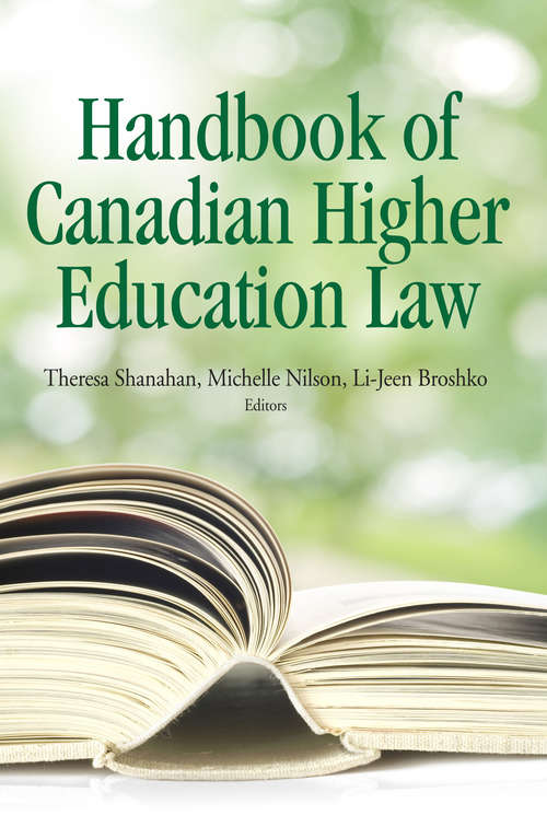 The Handbook of Canadian Higher Education