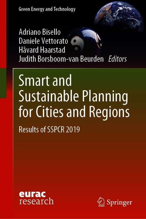 Smart and Sustainable Planning for Cities and Regions: Results of SSPCR 2019 (Green Energy and Technology)