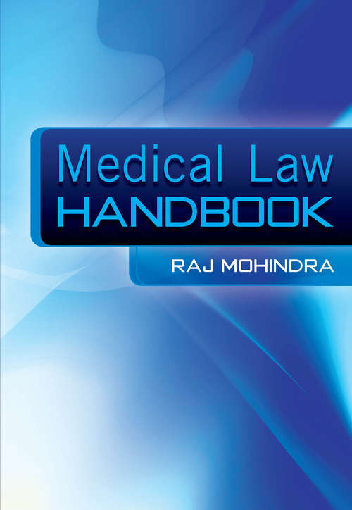 Medical Law Handbook: The Epidemiologically Based Needs Assessment Reviews, Low Back Pain - Second Series