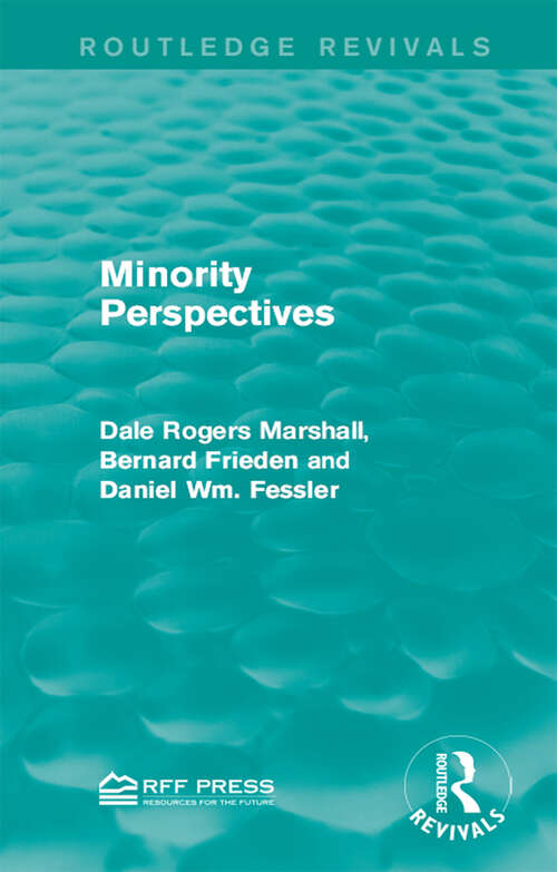 Minority Perspectives (Routledge Revivals)