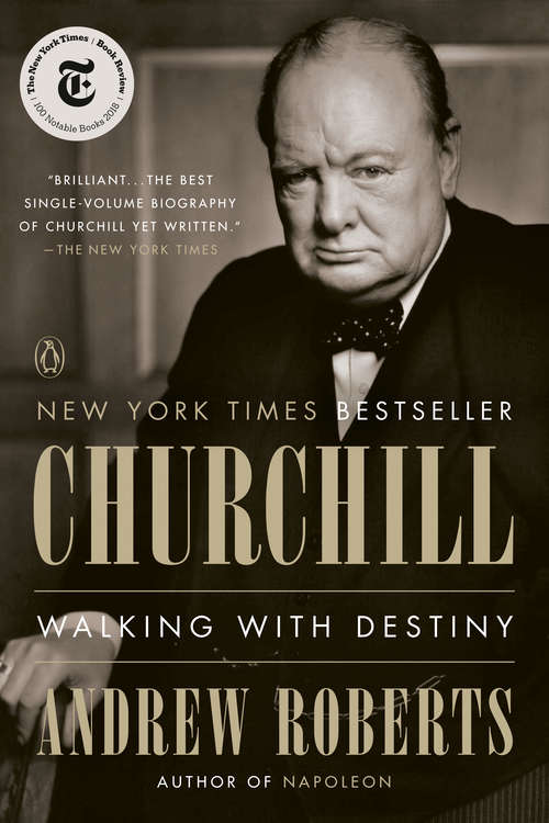 Collection sample book cover Churchill: Walking with Destiny by Andrew Roberts