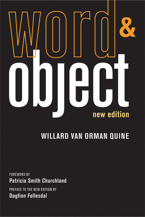 Word and Object, new edition