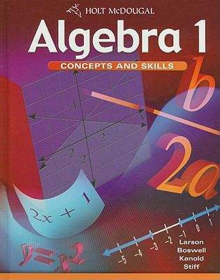 Algebra 1 - Concepts And Skills (Algebra 1: Concepts And Skills Series)