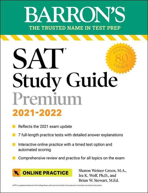 Barron's SAT Study Guide Premium, 2021-2022 (Barron's Test Prep)