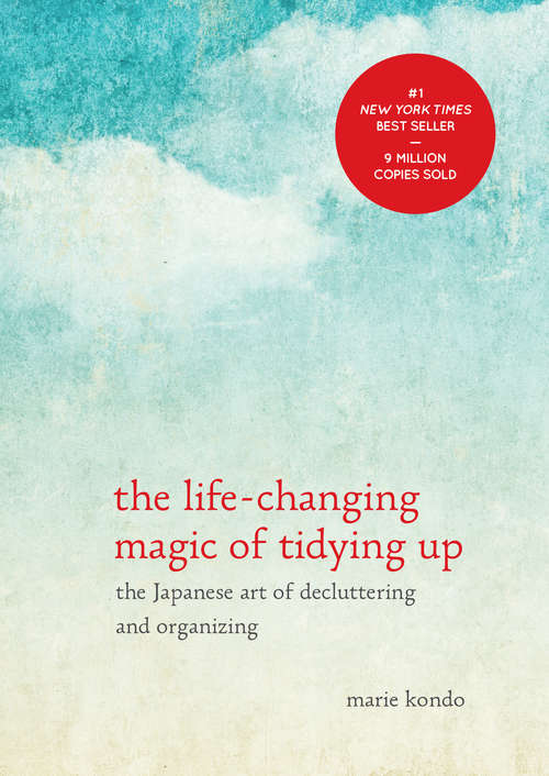 Collection sample book cover The Life-Changing Magic of Tidying Up, blue sky with clouds