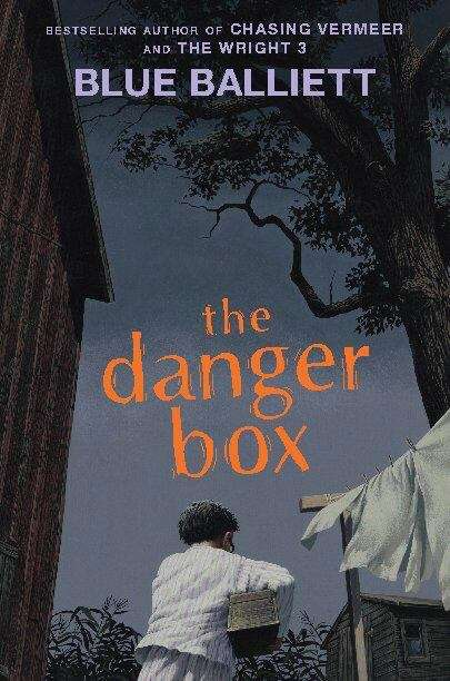 Collection sample book cover The Danger Box, a person holding a wooden box