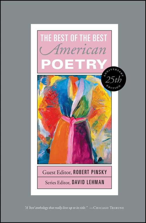 Best of the Best American Poetry: 25th Anniversary Edition