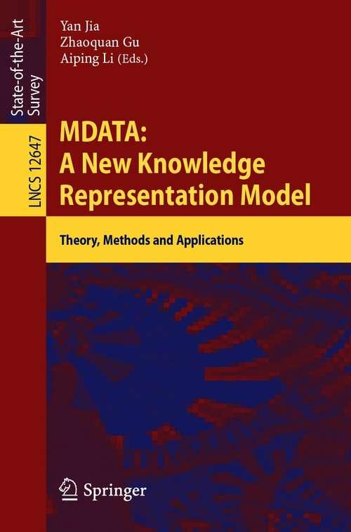MDATA: Theory, Methods and Applications (Lecture Notes in Computer Science #12647)