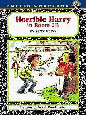 Collection sample book cover Horrible Harry in Room 2B, a boy taunting a girl with a live snake.