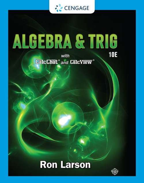Algebra and Trig with CalcChat and CalcView