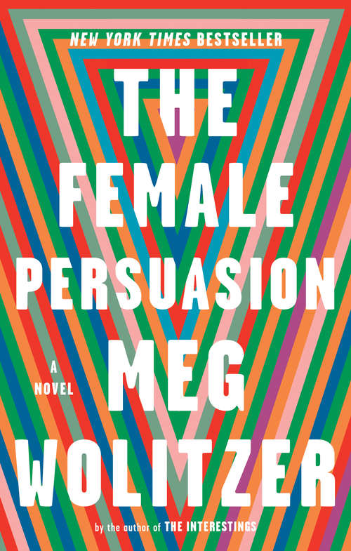 Collection sample book cover The Female Persuasion, rainbow lines in the shape of the letter