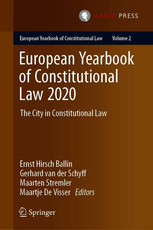 European Yearbook of Constitutional Law 2020: The City in Constitutional Law (European Yearbook of Constitutional Law #2)