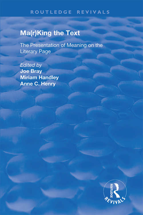 Ma: The Presentation of Meaning on the Literary Page (Routledge Revivals)