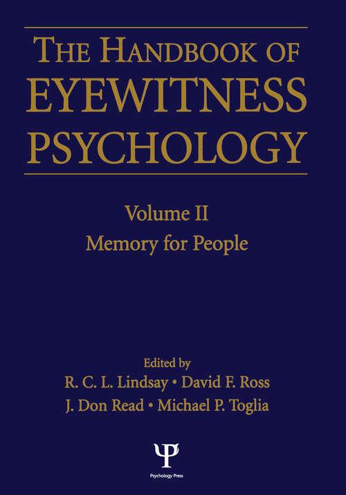 Handbook Of Eyewitness Psychology 2 Volume Set: Memory For Events