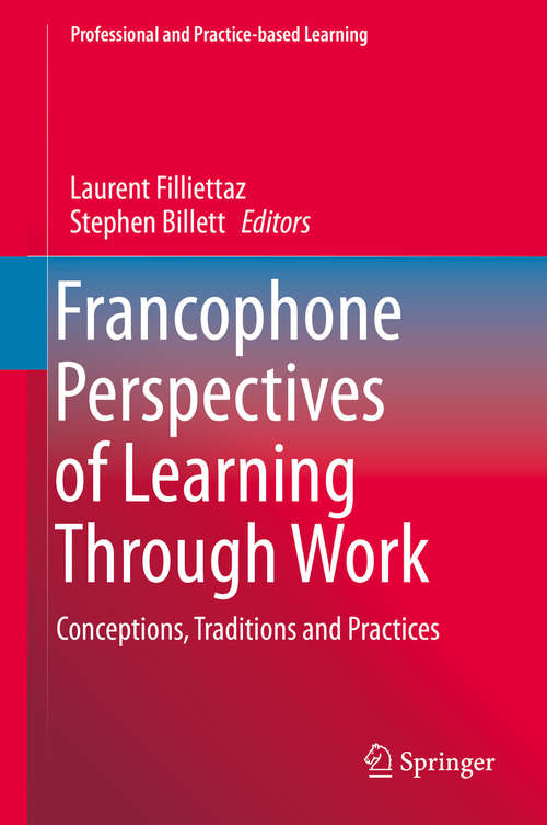 Francophone Perspectives of Learning Through Work