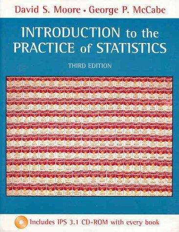 Introduction to the Practice of Statistics (3rd edition)