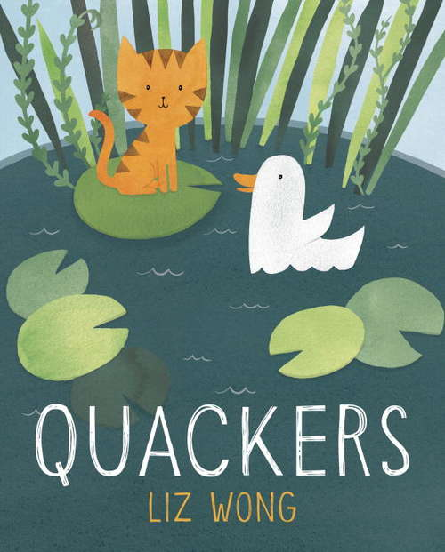 Collection sample book cover Quackers, a story about a cat who thinks he is a duck