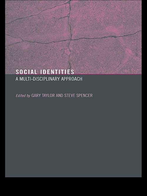 Social Identities: Multidisciplinary Approaches