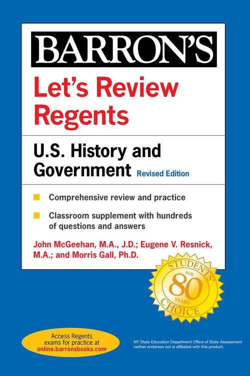 Let's Review Regents: U.S. History and Government Revised Edition (Barron's Regents NY)