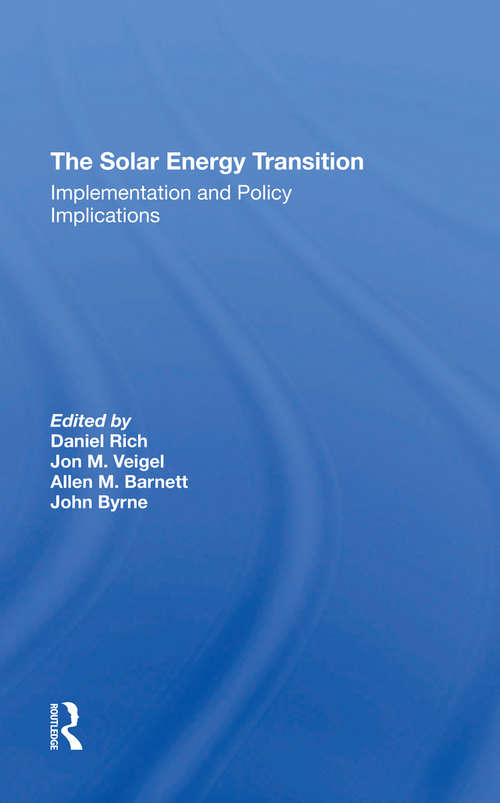 The Solar Energy Transition: Implementation And Policy Implications