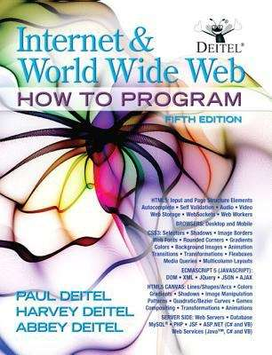 Internet and World Wide Web: How to Program, Fifth Edition