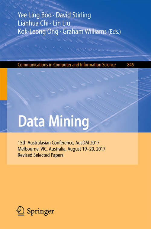 Data Mining: Theory, Methodology, Techniques, And Applications (Lecture Notes in Computer Science #3755)