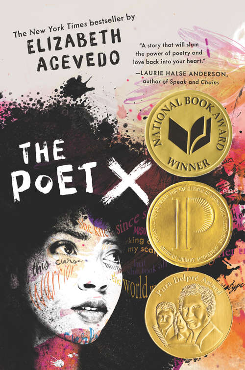 Collection sample book cover The Poet X by Elizabeth Acevedo,